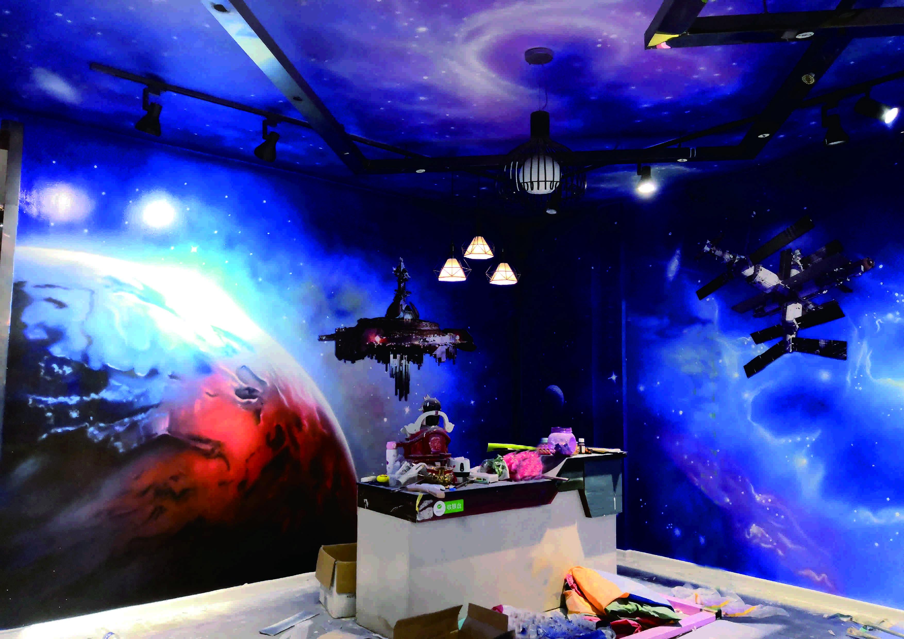 【宇宙星空彩绘项目案例】——洛阳恒大童星教育